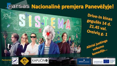 """Panevėžyje – nacionalinė filmo """"Sistema"""" premjera, kino centro """"Garsas"""" Drive-In kine"""