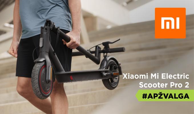 """""""Xiaomi Mi Electric Scooter Pro 2"""" apžvalga [VIDEO]"""