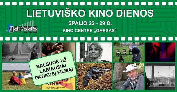 Spalio 22 – 29 d. lietuviški filmai didžiajame kino ekrane!