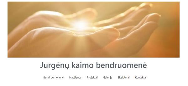 Jurgėnų kaimo bendruomenės veikla skelbiama ir internetinėje erdvėje