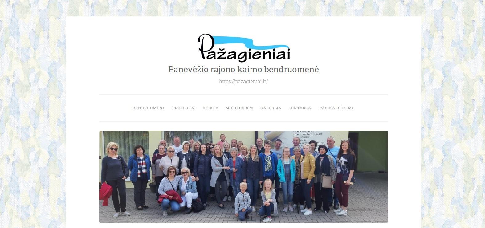 Pažagienių kaimo bendruomenės internetinėje svetainėje – naujos galimybės bei paslaugos