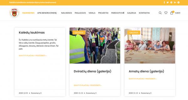 Naujoji Bajorų kaimo bendruomenės interneto svetainė skatina gyventojų verslumą