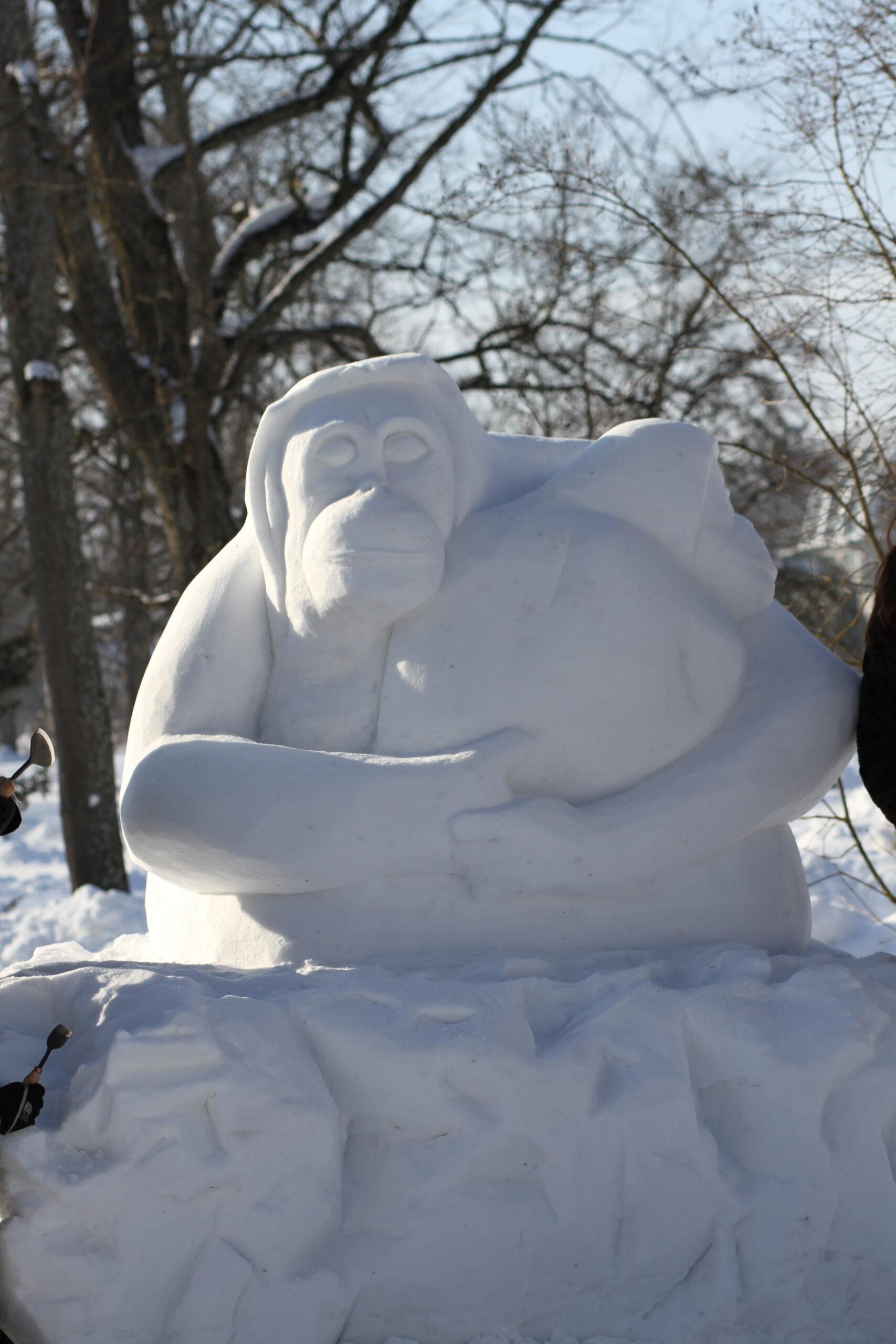 sniego skulptūra